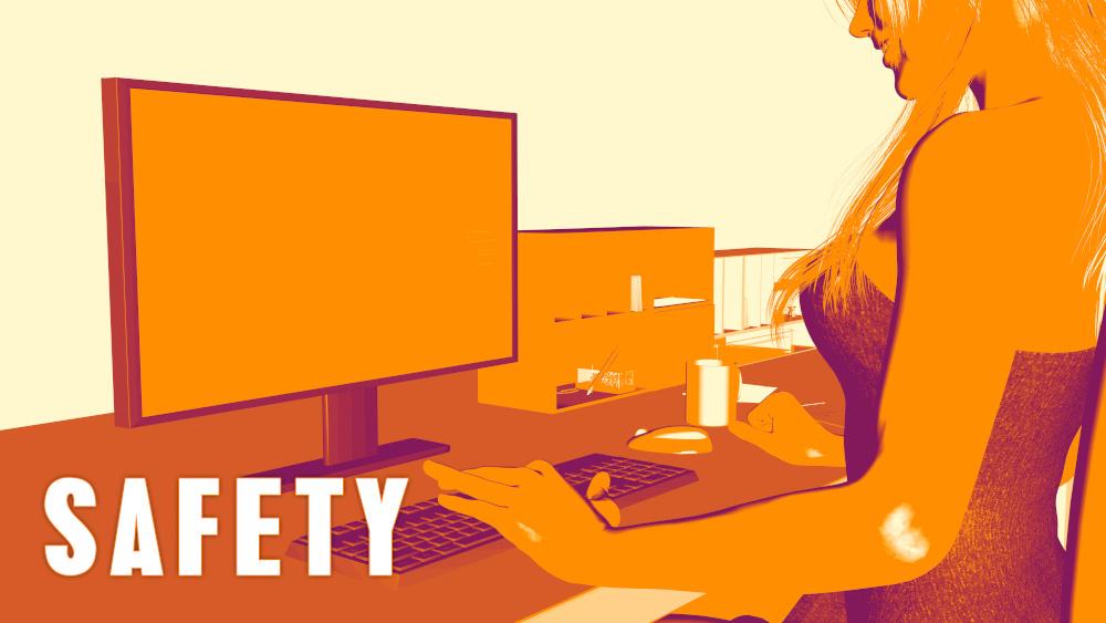 kobieta pracujaca przed komputerem
